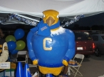 Joe Condor at the Alumni Booth